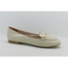 Novo estilo casual ballet sapatos de couro feminino