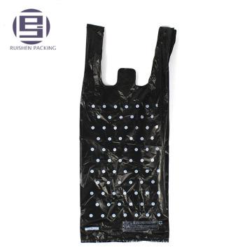 Bolsa de plástico de encargo del portador de lujo con la impresión