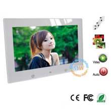 New design 10 inch simple function digital photo frame
