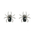 Sterling Silber Black Spider Ohrstecker