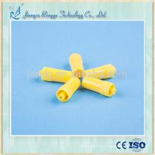 Capuchon d'héparine jaune jetable et approuvé par la CE et ISO approuvé