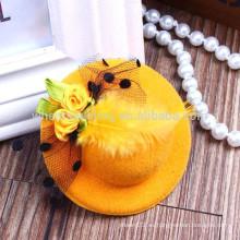 El sombrero de la pluma de la manera formó los nuevos productos para los hairclips de los cabritos, hairbands para los cabritos