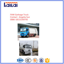 Jiefang Compacted Garbage Truck for Sale Waste Treatment