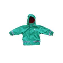 Green PU Reflective Rain Jacket for Children/Baby