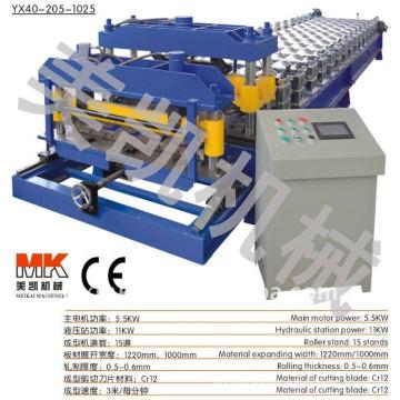 Teja de azulejos de acero acristalado que hace la máquina