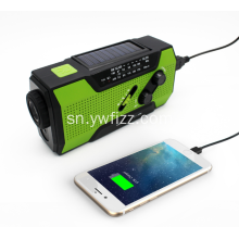 Multi-function Solar Flashlight Radio Alarm