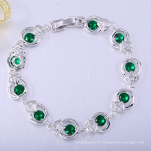 Moda diária desgaste 18k pulseiras de ouro para as mulheres