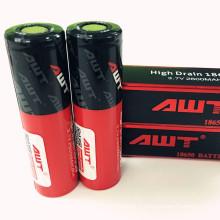 Awt plus récent 50A 1804 2600mAh Awt 50A / 3500mAh 35A 18650 Ecig Batterie 3.7V Batterie