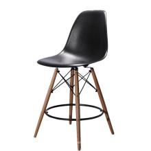 Taburete de madera plástico del diseño nórdico de los muebles al por mayor barato que cena la alta silla del taburete de bar
