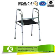 Caminhante ancião de alumínio com almofada de assento de nylon (CE / FDA / ISO)