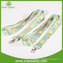 Logo personnalisé imprimé cordons de matériau en polyester avec différents crochets
