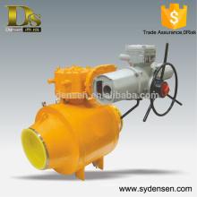 Full bore fully welded electric ball valve