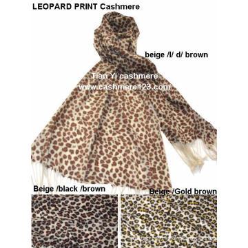 Шаль 100% шерсти леопарда печати