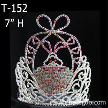 Conejo de Pascua Tiara Rhinestone gran corona