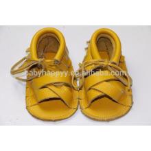 Summer lacet chaussures garçons chaussures en cuir véritable mocassins sandales enfants