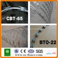 ISO9001 Anping shunxing usine rasoir fil bto-22 galvanisé rasoir barbelé