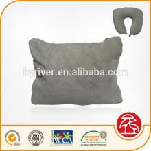 new 2-in-1 transformer travel pillow cushion with button design