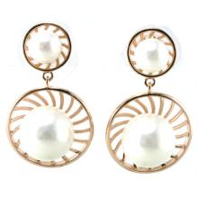 Neuer Entwurf für Art- und Weisefrauen Perlen-Ohrring 925 silberne Schmucksachen (E6530)