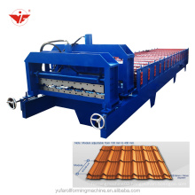 Nigeria bamboo panel roofing roll forming machine step tile machine