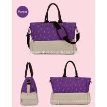 2016 nouveau design sac à couches momie coréen style 6 pcs set maman sac point portable diagonale multifonction sac à couches