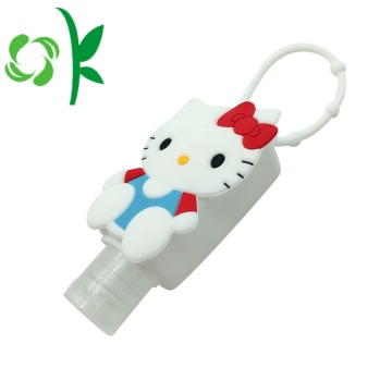 Lovely Cat Anti-bacterial Alcohol Sanitizer Silicone Holder