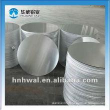 1050 plaque ronde en aluminium