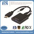 Новый разъем HDMI для VGA женский с адаптером HD Audio Video Video 1080P для ПК