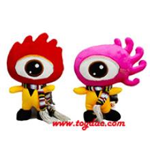 Plüsch Farbe Puppe Firma Maskottchen