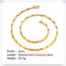 Cadena de acero inoxidable del collar de la manera de la joyería de la manera (SH054)