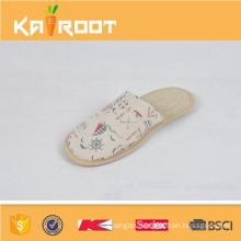 summer natural linen pedicure cheap wholesale house slippers