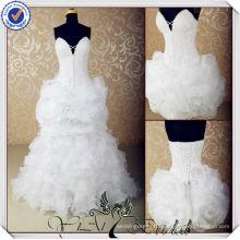 JJ3571 Sexy ruffled organza remove skirt wedding dress detachable skirt