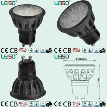 Schwarzer Body Color LED Spotlight mit mindestens 500lumen