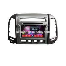 Quad core dvd lecteur pour voiture, wifi, BT, lien miroir, DVR, SWC pour Hyundai santafe 2010-2012 bas niveau