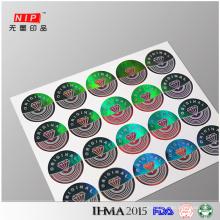 Original fazer etiquetas de holograma transparente para eletrodomésticos