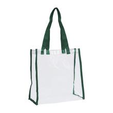 Изготовленный на заказ Оптовая черный ПВХ прозрачный сумки