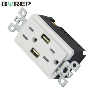 2018 Newest household electrical GFCI socket with usb port