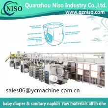 Elastic Ear Baby Pampers Machine Servo Control Ultra Thin Baby Diaper Making Machine