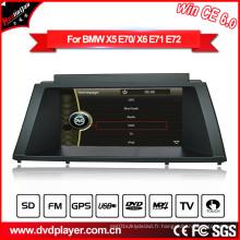 Windows Ce Car Radio GPS Navigation DVD pour BMW X5 / X6 Hualingan