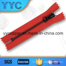 O/E Black Brass Metal Zipper for Leather Bags