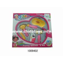 Venta caliente de plástico Doctor Instrucment Toy Set (1009402)