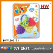 Atraente Lovely mini bebê dentição brinquedo Silicone bebê teether fruta