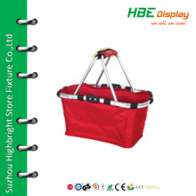 Double handle canvas storage shopping basket