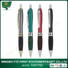 Металлическая шариковая ручка с мягкой ручкой