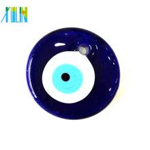 2014 Yiwu jóias azul vidro turkish evil eye pendant