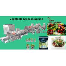 Linha automática de processamento vegetal / salada / IQF / linha de processamento de frutas / morango / manga /