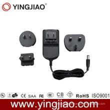 12W DC Adapter und wechselbarer AC Stecker