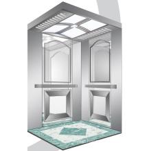 Aksen Mirror Etched Machine Room Passenger Elevator J0336