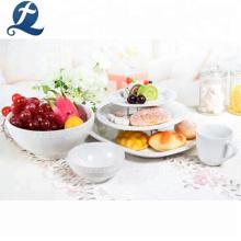 Hotel Restaurant Custom White Keramik Geschirr Geschirr Sets