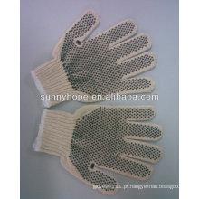 Luvas de algodão pontilhada em PVC