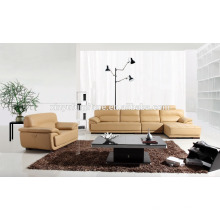 wooden leather living room sofa set in red color KW336
